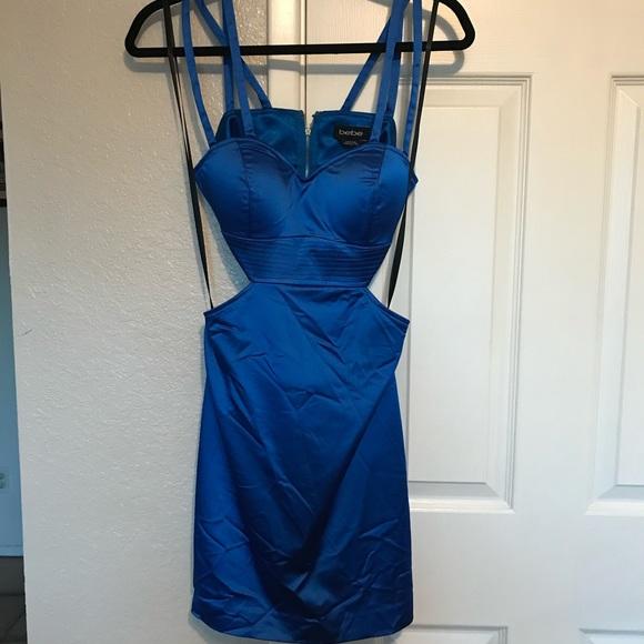 bebe Dresses & Skirts - Blue silk Bebe dress